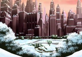 Gotham City Winter by PhoenixInTheSnow