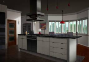 Wayne Manor Kitchen by PhoenixInTheSnow