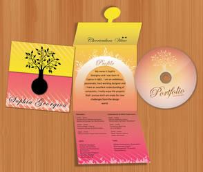CV and Portfolio mini-cd case by sofitsa