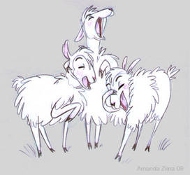 Laughing sheep by moonmystique