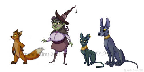 Character lineup by moonmystique