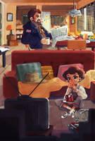 Hopper's family daily life by Siarina