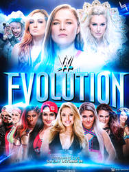 WWE Evolution 2018 Poster by TODESIGNS7