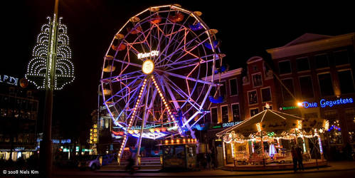 Winter City at Grote Markt by Nilkes