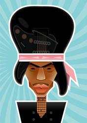 Jimi Hendrix by nicoletaionescu