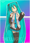 Hatsune Miku [Vocaloid FanArt] by TheLukrie