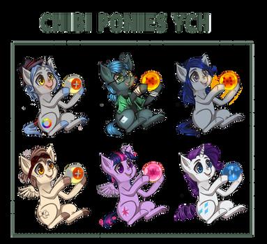 [OPEN] Chibi Pony YCH- Core membership revival by Trojan-Pony