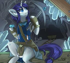 [comm] Miner Rarity AU by Trojan-Pony