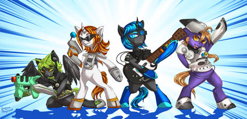 [CM] Armored Console Ponies by Trojan-Pony