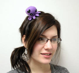 Purple valentine octopus hair clip by jaynedanger