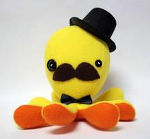 Yellow gentleman octopus plushie by jaynedanger