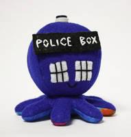 Custom TARDIS octo-plushe by jaynedanger