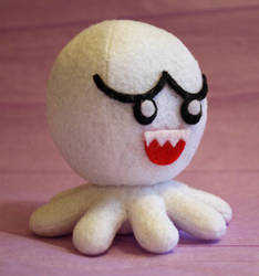 Mario Boo octo-plushie by jaynedanger