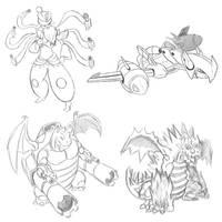 Pokemon fusions by ishaansharma456