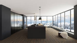 3D kitchen interior design-2 by ishaansharma456