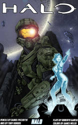 Master Chief and Cortana by jamesewelch