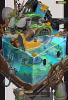 pirate island by arui001