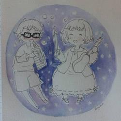 Kaori and Kousei - Shigatsu wa kimi no uso by verinha260