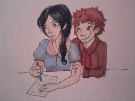 Kathy and Sully study by FiaFreckles