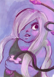 Amethyst speed painting by FiaFreckles