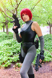 The Red-Haired Warrior - Regina - Dino Crisis by Sheenah