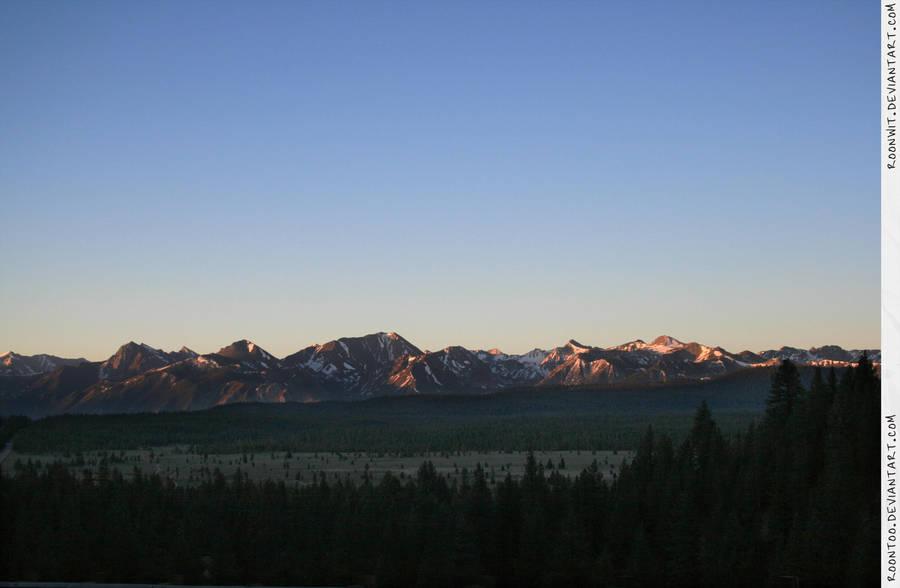 Sierra mountain sunrise 2 by RoonToo