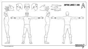 Captain Kirk 3D Turnaround by ultrapaul