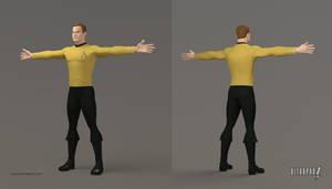 Captain Kirk 3D Model by ultrapaul