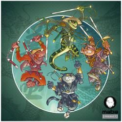 The four Samourais... by MabaProduct