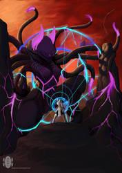 alien vs magic by dragonkan