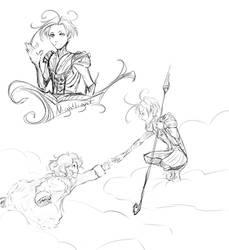 Nightlight Sketches by DarthShizuka