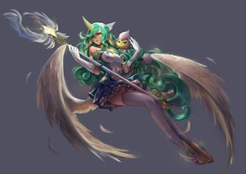 Star Guardian Soraka Commission by DarthShizuka