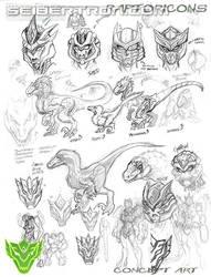 sneak peek of the raptoricons by MAXMEGA