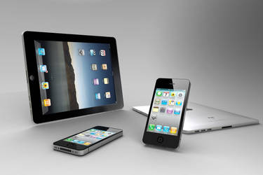 iPhone 4 and iPad in KeyShot 2 by retoocs