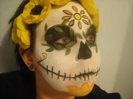 Marigold Sugar Skull by bandit-kitten