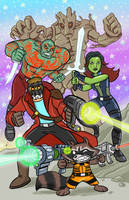 Guardians of the Galaxy pin-up! by scootah91