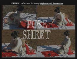 POSE SHEET 2 of 3: Geisha Tea Ceremony by themuseslibrary