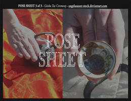 POSE SHEET 3 of 3: Geisha Tea Ceremony by themuseslibrary
