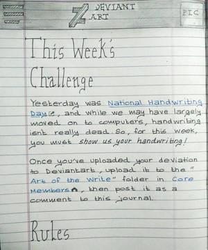 Core Members Handwriting challenge by Tudalia