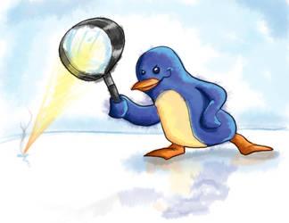 Evil Penguin by Hampire
