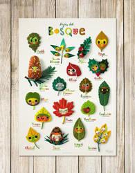 Forest leaves poster by EnriqueFernandez