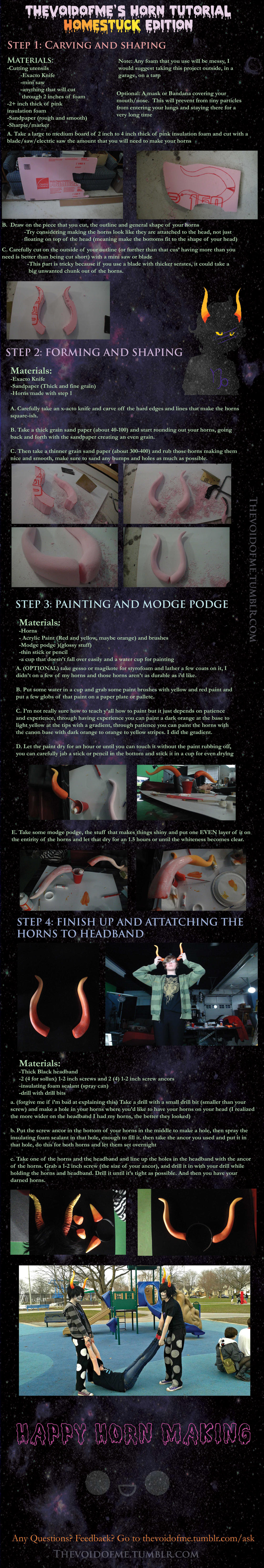 Homestuck Horn Tutorial by thevoidofme