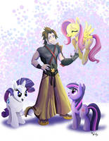 Comm - Terra the pony-herder by LynxGriffin