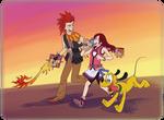 KH - Redhead Trio by LynxGriffin