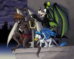 KH2 - Warriors by Night by LynxGriffin