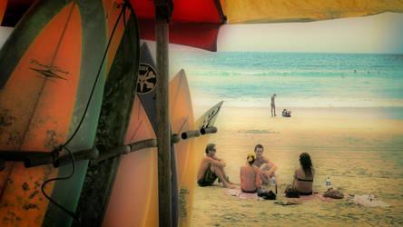 on the beach by tetestinta