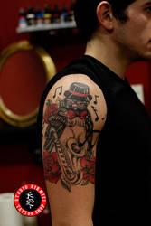 Owl tattoo bayku dovmesi jaz music by mertkanongun