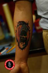 Pinkfloyd tattoo dovme thewall by mertkanongun