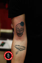Skull tattoo dovme hippiester by mertkanongun