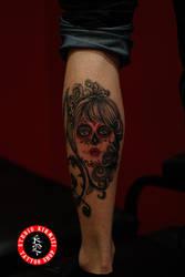 Sugarskull tattoo dovme portrait art by mertkanongun
